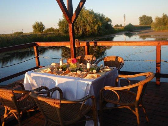 Danube Delta Resort: Our table