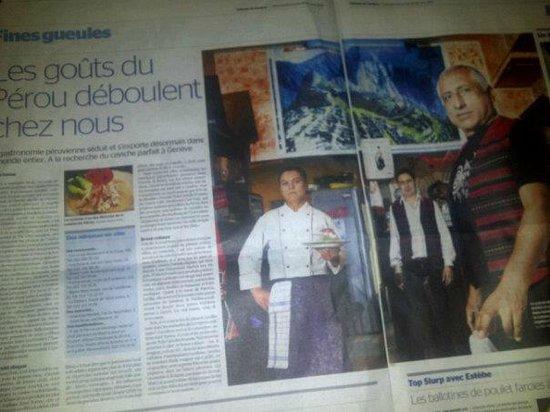 Restaurant LOS INCAS: Nos INFOS données par la Tribune de Genéve