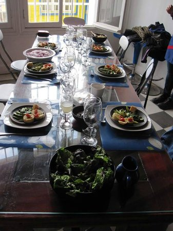 Chilean Cuisine Closed Door Dining: set for dinner