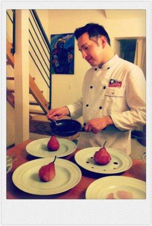 Chilean Cuisine Closed Door Dining: preparing a dessert