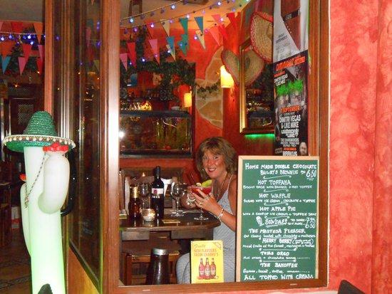 Palardi Tex-Mex: Looking out onto Restaurant Street