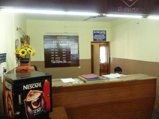 Hotel Mayura Yatrinivas Mysore: Reception