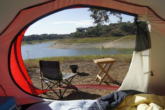 Markádia: Vista tenda