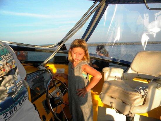 Sea Screamer: Ava at the helm