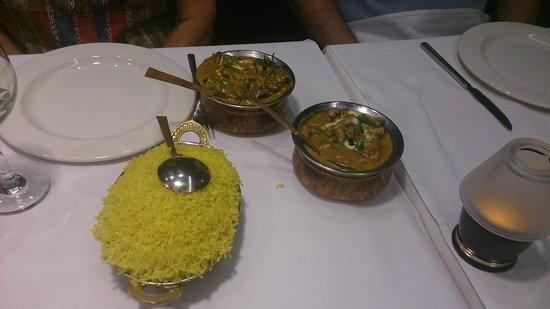 Randhawa's Indian Cuisine: Beef Jalprezi, Chicken Korma and Saffron Rice
