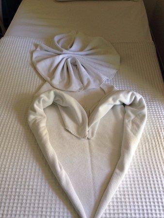 Grand Aquarium: Towels in room