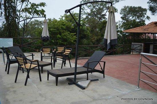 Porcupine Castle Resort: Pool side seats