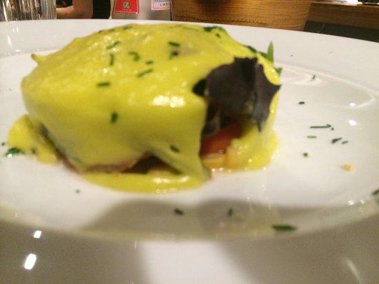 Casilda: Ensalada de bakalao y pil-pil de hongos