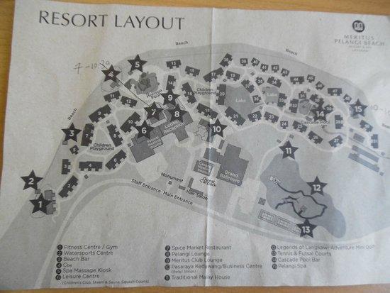 ميريتوس بيلانجي بيتش ريزورت آند سبا، لانجكاوي: Diagram of the resort