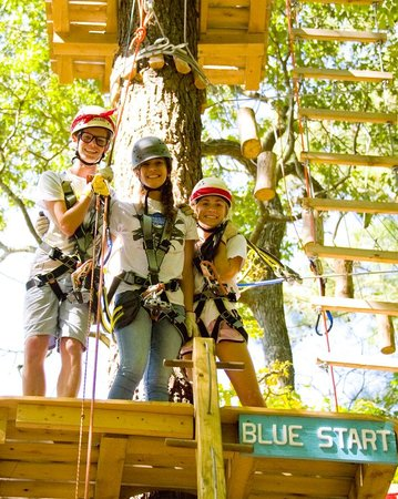 ‪‪Frontier Town‬: 3 Ropes Courses in the High Ropes Adventure Park at Frontier Town‬