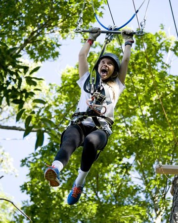 Frontier Town RV Resort & Campground: On-Site High Ropes Adventure Park