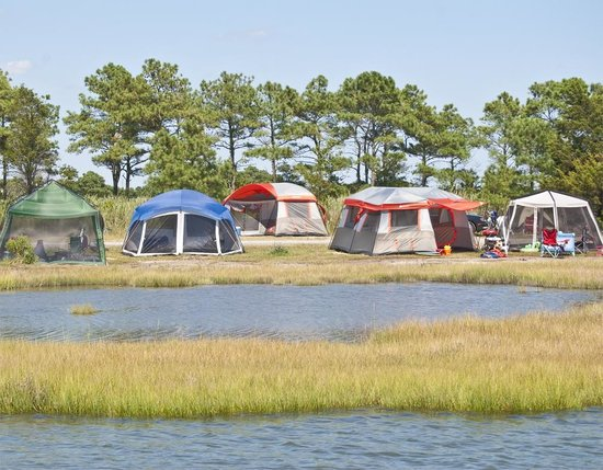 ‪‪Frontier Town RV Resort & Campground‬: On-Site Waterfront Group Tent Area‬