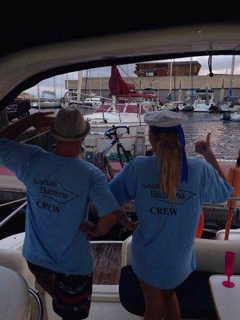 Yacht Charter Barcelona: Myself and Midge the skipper