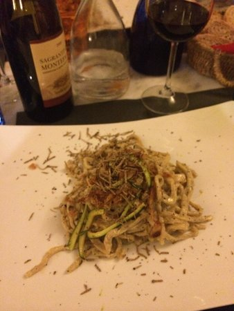Osteria Dei Priori: Truffled Zucchini Carbonara