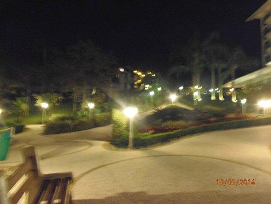 Fazzenda Park Hotel: jardines en la noche