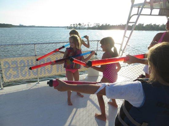 The Fun Boats Dolphin Cruises: Water Wars!
