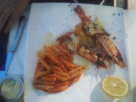Brasserie IL Capriani: gegrilde gamba's