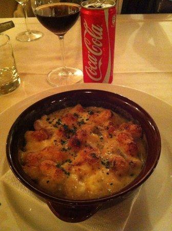 Ristorante Le Ghiaine: ньоки с сыром толеджо, грибами и сливками