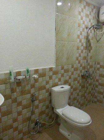 Chalston Beach Resort: shower and toilet