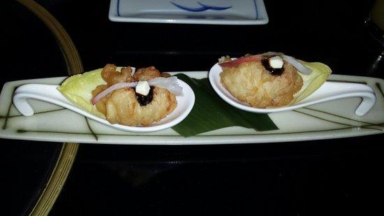 Shoya: Lobster tempura.