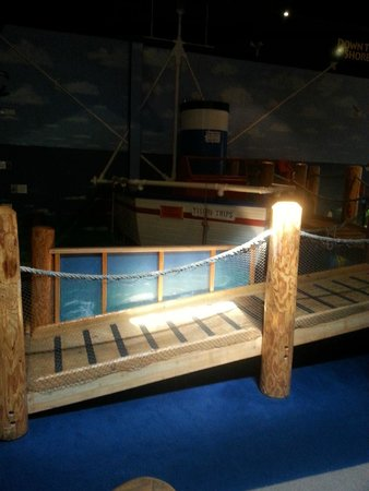 Garden State Discovery Museum: Boat - For your safety please don't climb in the pretend ocean....