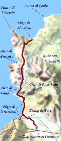 Carte du désert des Agriates