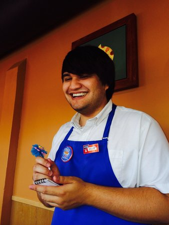 IHOP: This was our waiter Willy. Very lovable and nice person. Good Luck in School my friend.