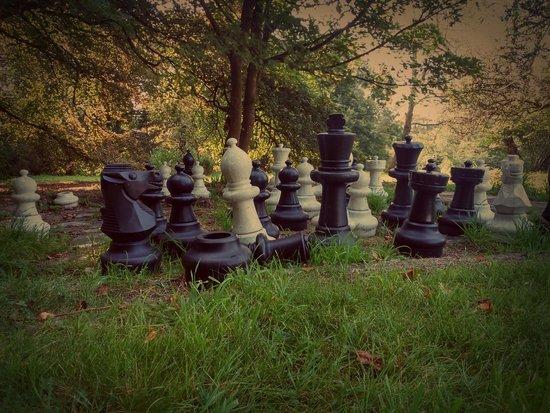 Tredethy House: Anyone for garden chess?