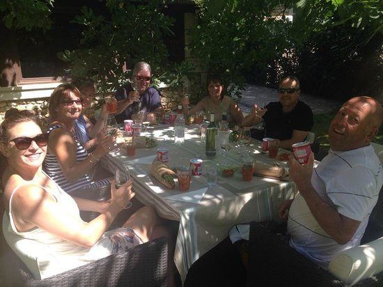 La Libertie : Lunch in the gardens - Johan and Christina made this really special