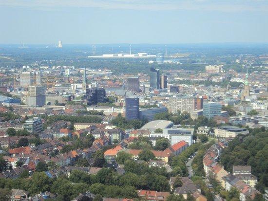 Florian Tower (Florianturm): Blick vom Florian auf die Innenstadt