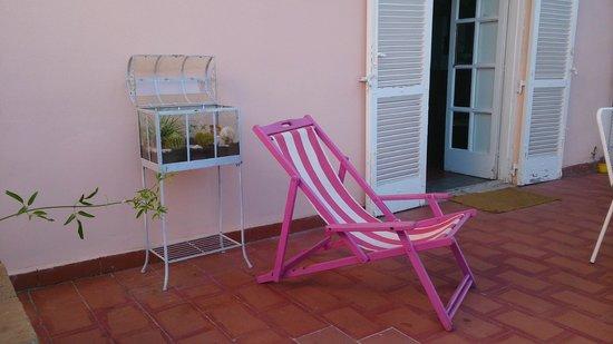 B&B Villa Accademia: detalle encantador de la terraza