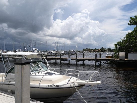 The Dock at Crayton Cove: Stormy sky over The Cover