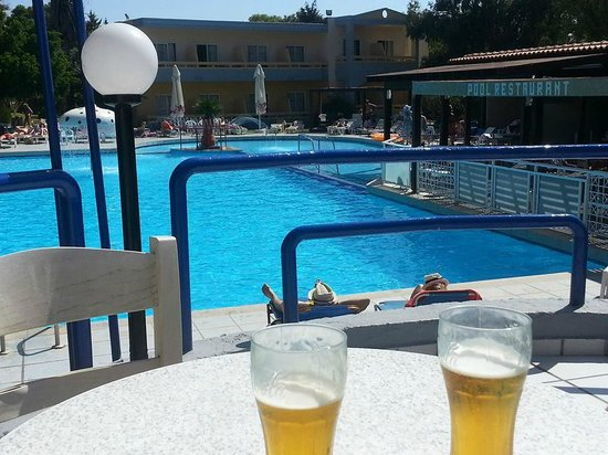 Golden Odyssey Kolimbia: Pool view from Outdoor Seating area