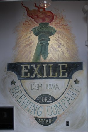 Exile Brewing Company: Entrance mural