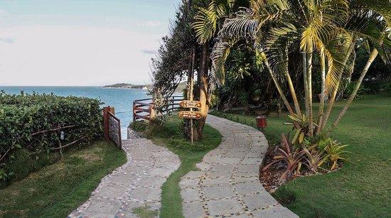 Hotel Ponta do Madeiro: Caminhos de acesso à Praia e às acomodações
