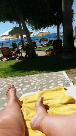 Elias Beach Hotel: view from my sun bed