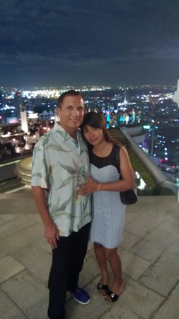 Tower Club at Lebua: Amazing view at the Dome Sky bar