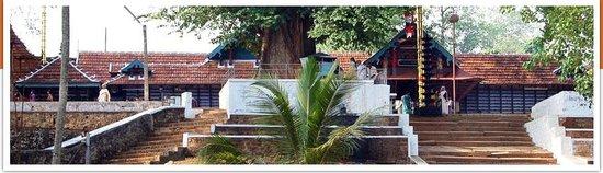 Thirumandhamkunnu Bhagavathy Temple: Entrance through the steps