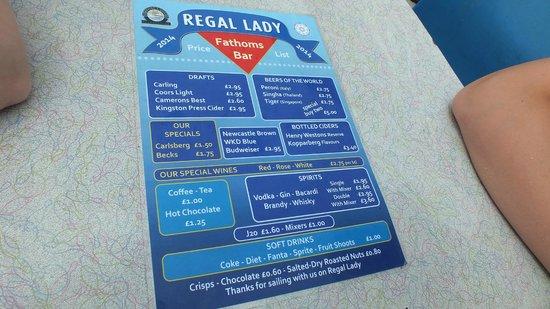 The Regal Lady: Regal Lady - menu