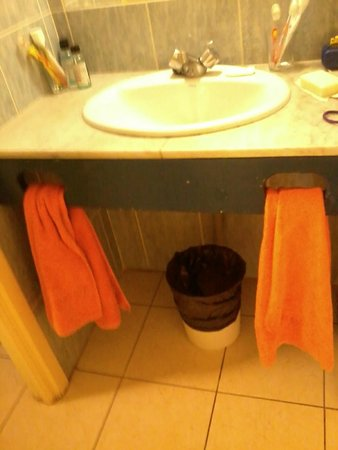 Palm Garden Apartments : Lavandino del bagno