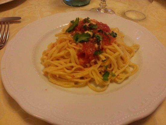 Loriana Park Hotel: Primo piatto della cena, ancora più buono di quanto bello da vedere