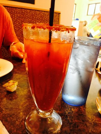 """Citrus Breakfast and Lunch: """"Pepper Bloody Mary"""" #Love the Old Bay Rim!"""