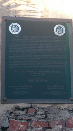 Sinking Bell Tower: Plaque