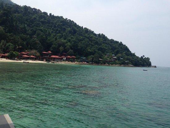 Senja Bay Resort: Hotel view from Jetty