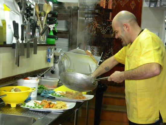 U Leugo de Sant Magi: cucina a vista con rudy chef
