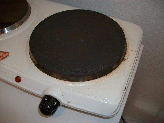 Pupo Rooms: Cocina sucia - Poca potencia