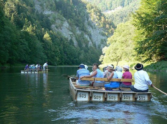 Rafting on Dunajec river: The rafts