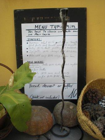 Tapineria: Het ¨menu del dia¨ van 10 euro