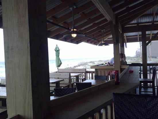 Runaway Island: outdoor dining area