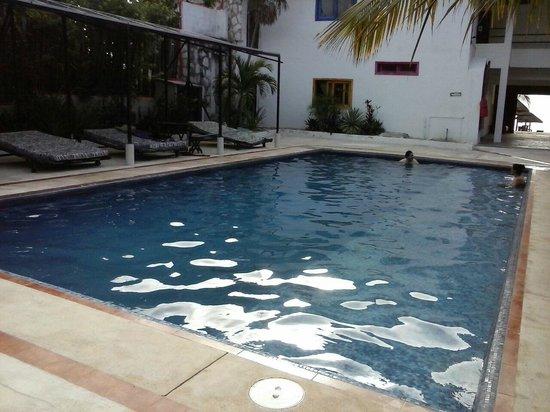 بارايسو بيتش هوتل: Nuestra piscina con camastros unica por la zona
